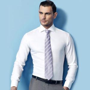 Wholesale Long Sleeved Men Dress White Cotton Shirt pictures & photos