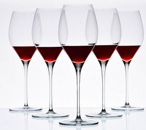 350ml Hand Made Mouthblown Crystal Wine Cup pictures & photos