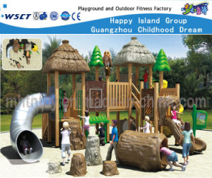 Wooden Roof Feature Outdoor Playsets Equipment Hf-10601 pictures & photos