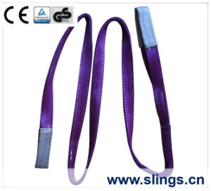 2017 1t*10m Polyester Webbing Sling Double Eye Safety Factor 6: 1 pictures & photos