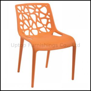 Modern Outdoor Perforated Back Cafeteria Plastic Dining Chair (SP-UC304) pictures & photos