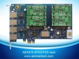 4 FXS Asterisk Card Aex410 Support Asterisk /Trixbox/Elastix