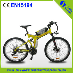 China CE En15194 High Carbon Steel Frame Electric Mountain Bike pictures & photos