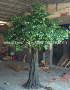 Factory Hot Sale Fake Artificial Synthetic Indoor Banyan Ficus Tree
