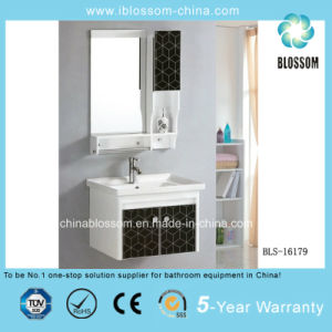 Wall-Hung PVC Bathroom Cabinet, Vanity with CE (BLS-16179) pictures & photos
