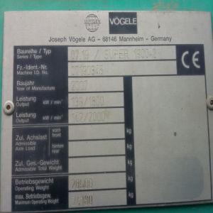 Vogele Super 1800-2/1900-2 Rubber Pads pictures & photos