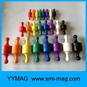 Plastic Colorful Office Memo Magnets/Magnetic Push Pin pictures & photos