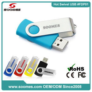 Best-Selling Swivel USB Flash Drive 128MB-64GB Memory (SMS-FDP01)