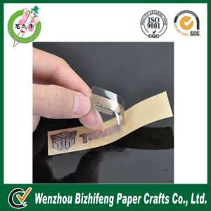 Transparent label sticker adhesive label
