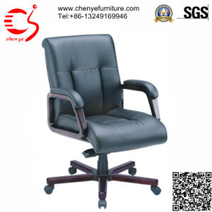Black Leather Meeting Chair with Castor (CY-C8030-3 KTG)