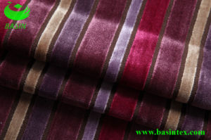 Stripe Velvet Sofa Fabric (BS4011) pictures & photos