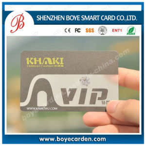 Eco-Friendly Transparent VIP Card with Matt Surface pictures & photos