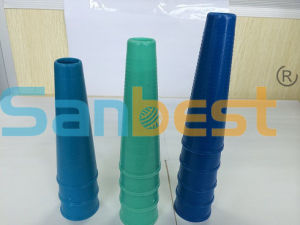 Regular 4 Inch Plastic Cones for Spun Polyester Sewing Thread pictures & photos