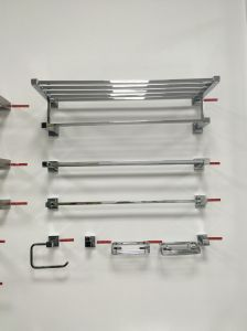 Sanitary Ware Bathroom Accessories Stainless Steel Single Towel Shelf (ZF940) pictures & photos