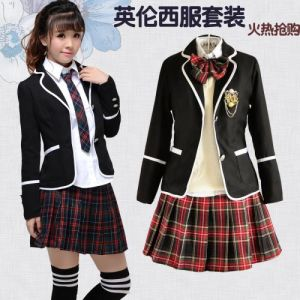 School Uniform for Girls with New Design pictures & photos