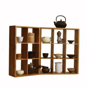 Bamboo Stackable 9-Cubecubeicals Cube Organizer Cubical Free Standing Sturdy Minimal Contemporary Simple Cubicle Shelving Unit Organizing Cube Floor Organizers pictures & photos