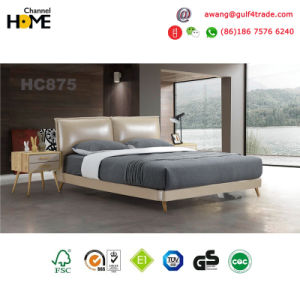 2017 Comfortable High Grade Chinese Leather Bed (HC875) pictures & photos