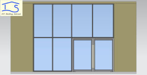 Aluminum Storefront Glass Wall with Entrance Door pictures & photos