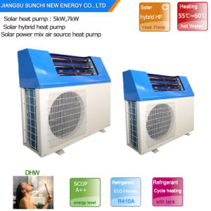 Save 80% Energy Cop5.32 Home Dhw 60deg. C 220V Tankless 5kw 260L, 7kw 300L, 9kw 300L Air Heat Pump Hybrid Solar Thermal Pump CO2 pictures & photos