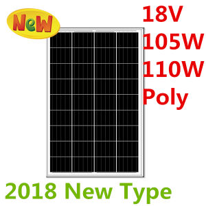 18V 105W-110W Poly Solar Panel (2018) pictures & photos