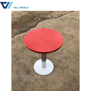 French Antique Dining Table Marble White Coffee Table Round Dining Table Set pictures & photos