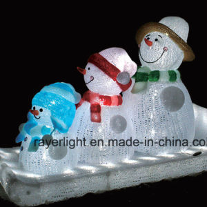 3D Christmas Snowman Motif Light for Home and Garden Decoration pictures & photos