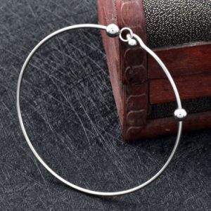 Stainless Steel Adjustable Wire Bangle Fashion Minimalist Bead Charm Bracelets pictures & photos