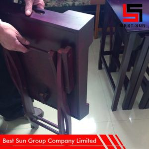 Foldable Wooden Tray Rectangle, Portable Restaurant Furniture pictures & photos