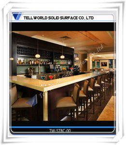 Modern and Elegant Interior Design Curved Cocktail Bar Counter pictures & photos