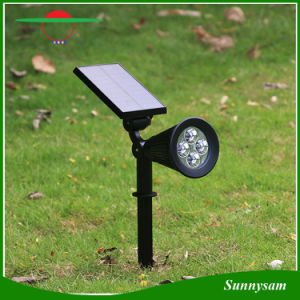 Solar Spotlight 2-in-1 Adjustable 4 LED Wall Mount /Landscape Insert Solar Lights with Automatic on/off Sensor pictures & photos