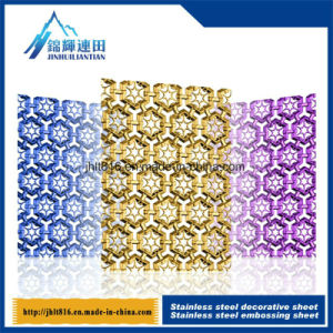 Embossed Hollow Titanium Board 201 Color Stainless Steel Decorative Plate pictures & photos