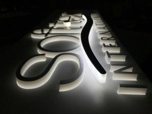 Store Brand Commercial Pop Advertising Acrylic LED Channel Letters Signs with Panel pictures & photos