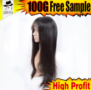 Silk Lace Wig with Grade 10A Brazilian Hair pictures & photos