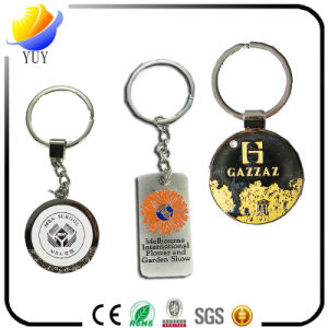 Different Shapes of The Engraved Surface Effect Metal Key Chain pictures & photos