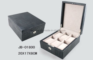 Handmade PU Leather Packing Storage Wooden Watch Box Watch Case pictures & photos