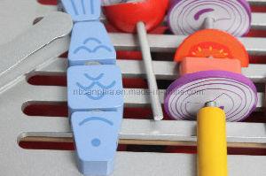 Pretend Kitchen Toy, Popular Toy Kitchen Set and Wooden DIY Kitchen Toy pictures & photos