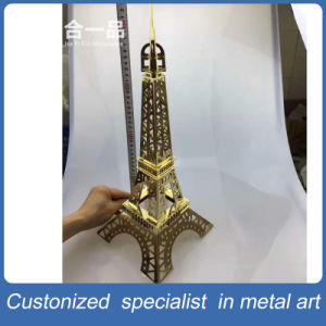Hot Sale Handmade Stainless Steel Artwork of Golden Butterfly/Sailing/Car/Eiffel Tower pictures & photos