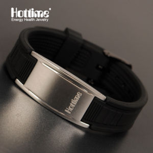 Customized 316L Stainless Steel with Negative Ion Silicone Bracelet (20019) pictures & photos