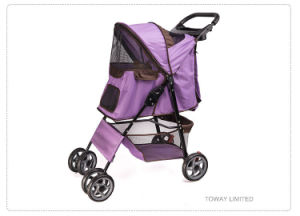 Quality 4 Wheels Pet Cart Trolley Dog Home Strollers pictures & photos