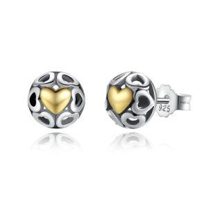 Women Heart Silver Stud Earrings Fine Jewelry pictures & photos