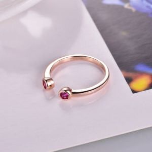 Rose Gold Open-Ended Ring with Diamond -Zr3159 pictures & photos