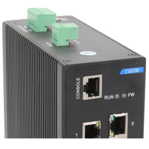 7 Ethernet Port Industrial Network Switch with 2 Gigabit RJ45 pictures & photos