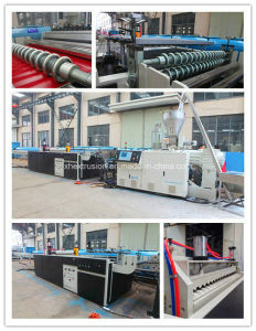 PVC Corrugated Roof Tile Machine/Double Layer Tile Production Line/Extrusion Line/Making Machine/Extruder pictures & photos