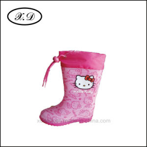 Rain PVC Fashion Kids Boots with Refined Mouth (BX-030) pictures & photos