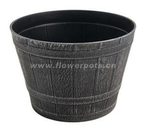 Round Plastic Barrel Planter (KD3821S-KD3826S) pictures & photos