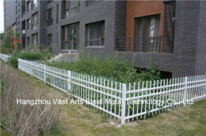 Customized High-Quality Residential Garden White Galvanized Steel Fence pictures & photos