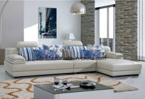 Luxury Pretty Living Room Sofa/PU Leather Sofa (HX-FZ056) pictures & photos