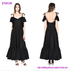 New Arrival Party Deep V-Neck Elegant Prom Long Evening Dress pictures & photos