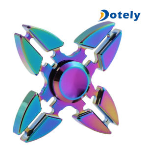 Quad Chopper Rainbow Hand Spinner Four Gears Original EDC Toy pictures & photos