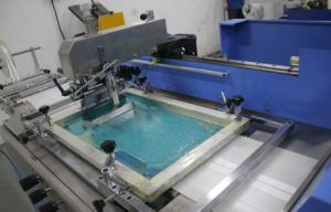 Single Color Satin Ribbons Screen Printing Machine Ds-301 pictures & photos